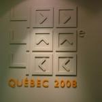 Enseigne pour le 400e de québec fait en acrylique et bois peint