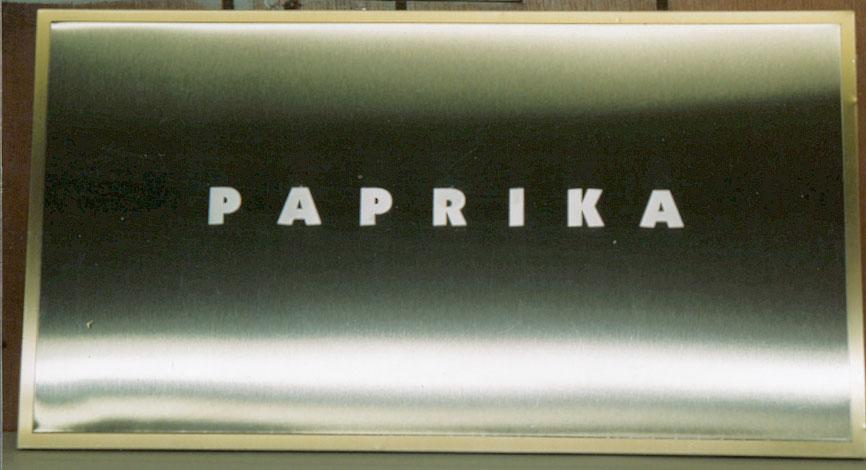 Enseigne - Paprika