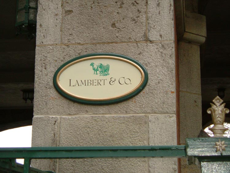 Enseigne - Lambert & Co.