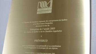 plaque honorifique mérite commercial desjardins