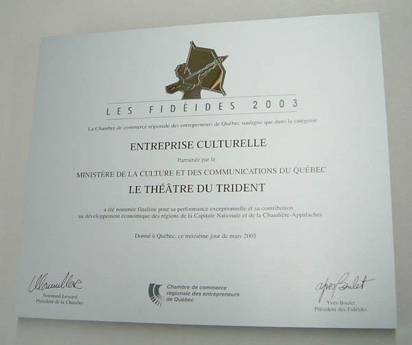 Plaque commémorative - Bois, laiton et aluminium - Chambre de commerce de Québec