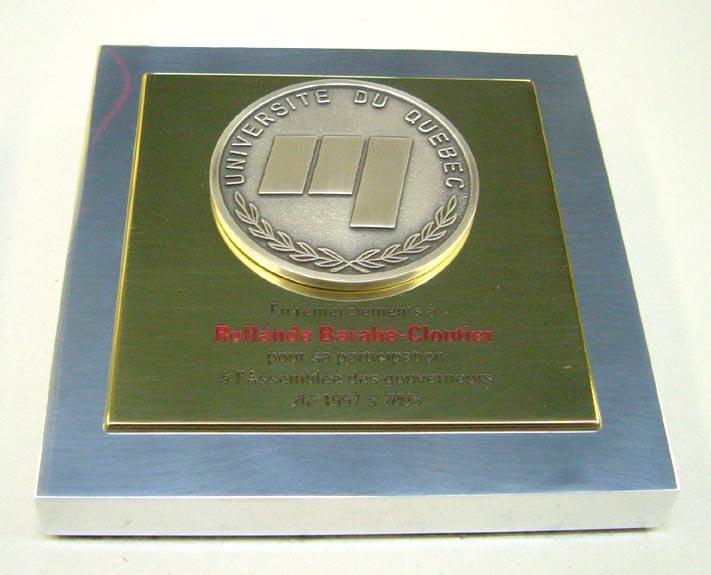 Trophée - Aluminium massif et bronze - UQ
