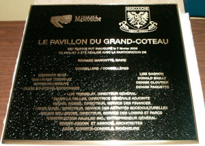plaque de bronze coulé
