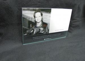 Plaque commémorative en aluminium et verre imprimé