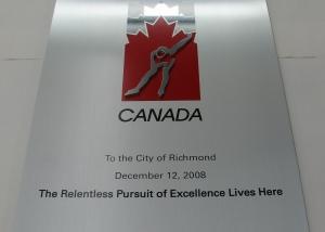 plaque Commémorative en aluminium imprimé