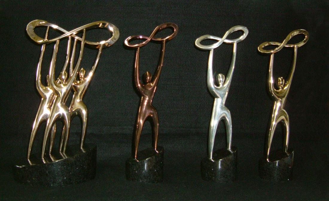 trophée bronze massif