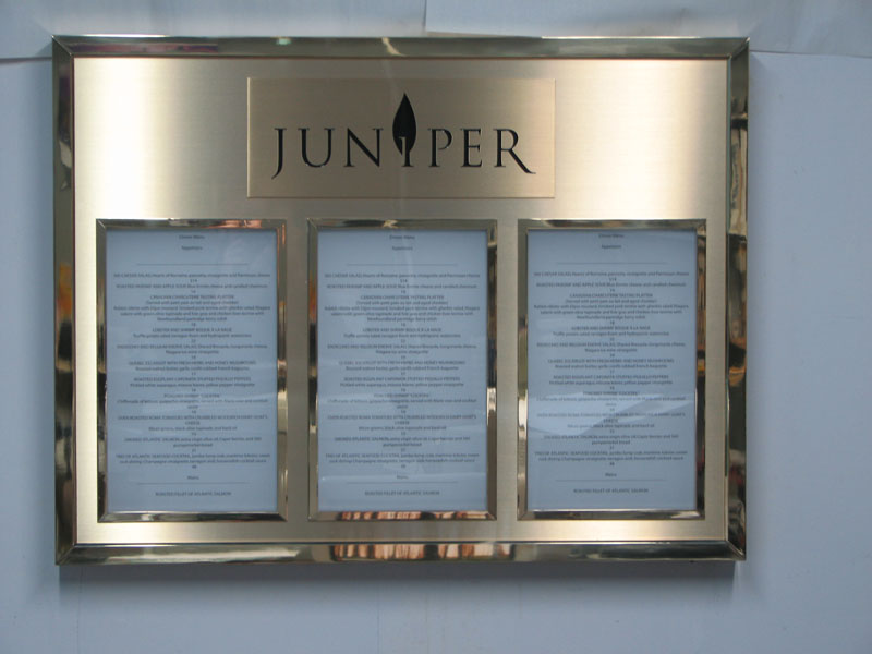 Porte menu Juniper