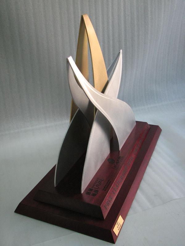 Trophée - Bois, aluminium et bronze - Version 1 - La Capitale
