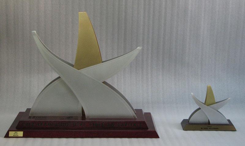 Trophée - Bois, aluminium et bronze - Version 2 - La Capitale