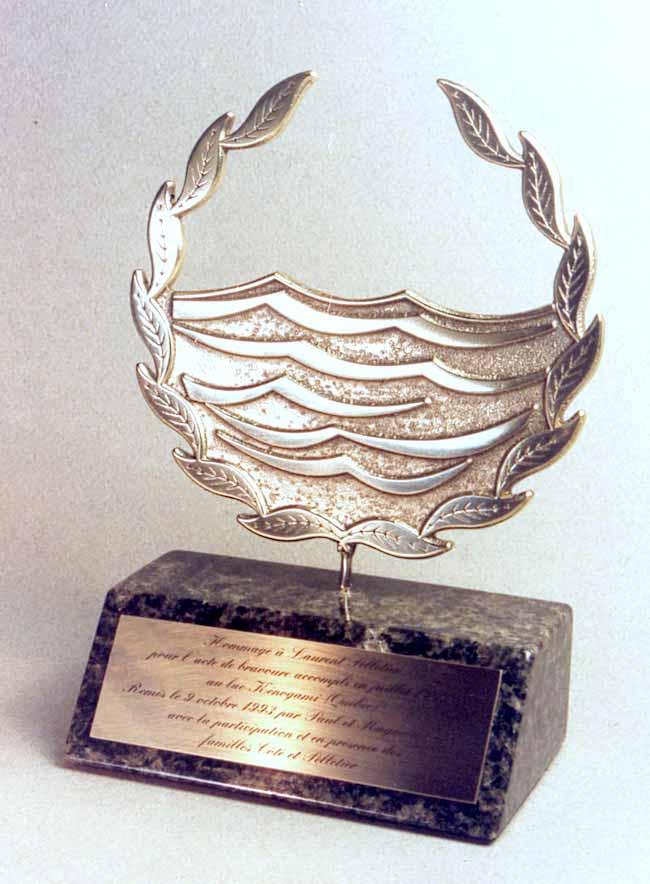 Trophée - Bronze et granit