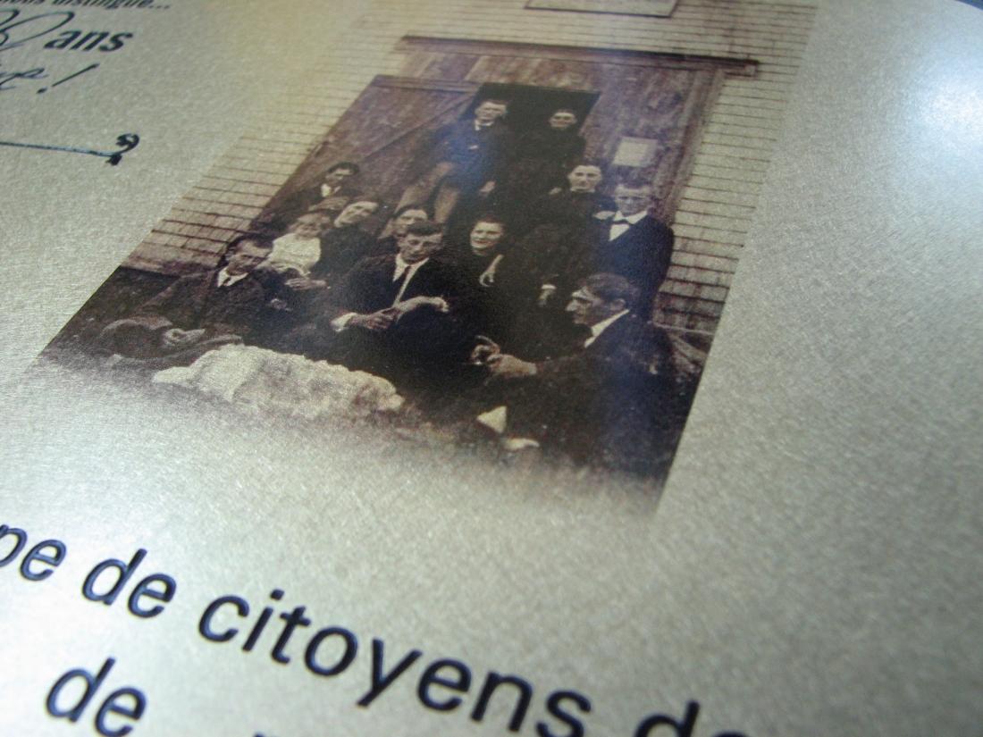 plaque commémorative - détail de la photo