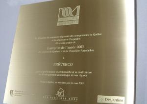 plaque commémorative - laiton et gravure - Fideides