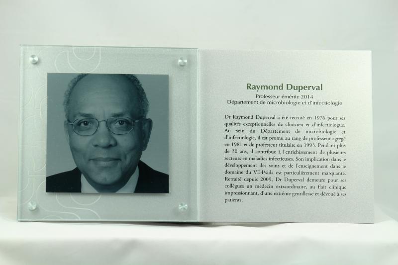 Plaque commémorative – Aluminium imprimé – Université de Sherbrooke